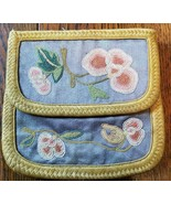 Antique Chinese Embroidery Pouch Purse bag with Knot Stitch - $247.50