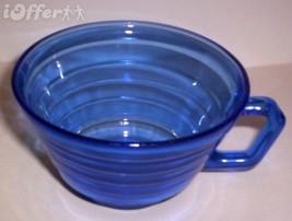 DEPRESSION GLASS-- HAZEL ATLAS MODERTONE RITZ BLUE COFFEE CUP - $14.95