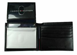 Tommy Hilfiger Men's Leather Credit Card Wallet Billfold Black 5675-01 image 7