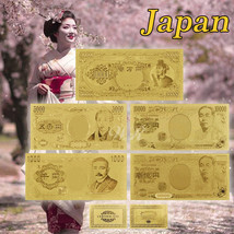 WR Japan Gold Banknote Set 5 PCS 5000 - 10000000 Yen Nippon Collectible ... - $11.41