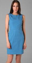 $368 Elie Tahari Emory Island Blue Stretch Cotton Sleeveless Dress 12 - $152.99