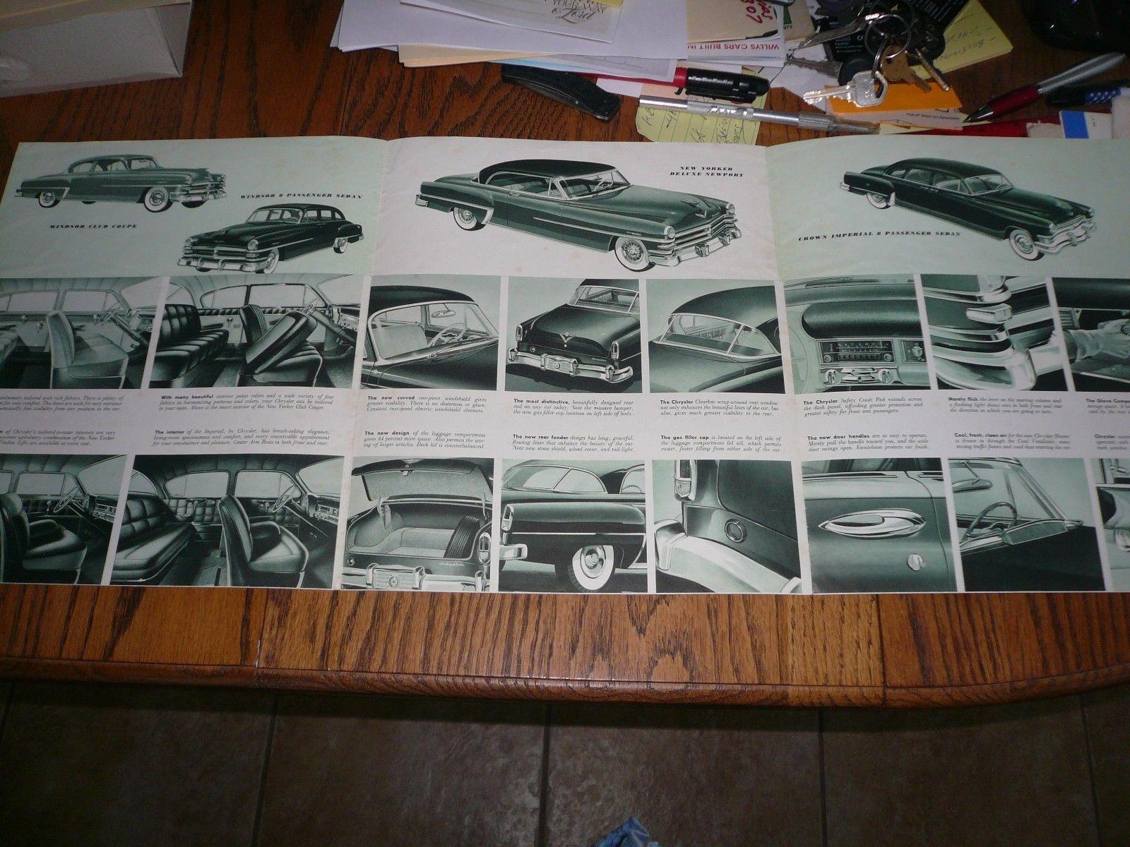 1953 Chrysler Windsor De Luxe New And 38 Similar Items 1954 Yorker Deluxe Newport Sales Brochure