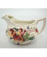 "Vintage Royal Doulton Sherborne Creamer 10 oz 3.5"" Scalloped Chip on Edge - $13.85"