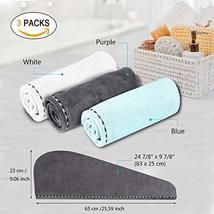 Hair Towel Wrap Turban Microfiber Hair Drying Towels, Quick Magic Hair Dry Hat C image 6