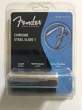 099-2301-003 Fender FCSS1 Medium Standard Chrome Steel Guitar Slide - $7.03