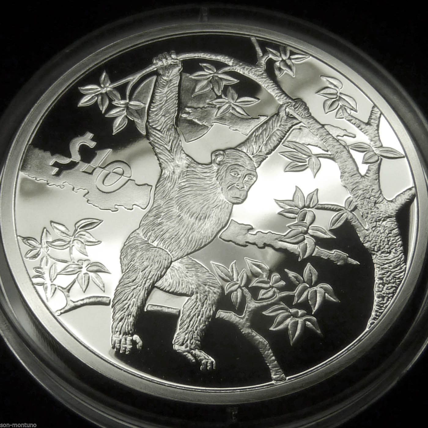 """2007 /""""African Animals/"""" ELEPHANT PROOF  Sierra Leone Bank Sterling Silver Coin"""