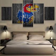 5pcs kansas jayhawks team printed canvas wall art picture home decor  thumb200