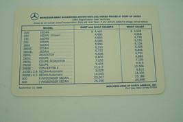 1969 mercedes 280sl 280sec owners price card sales brochure w113 w111 w1... - $34.99