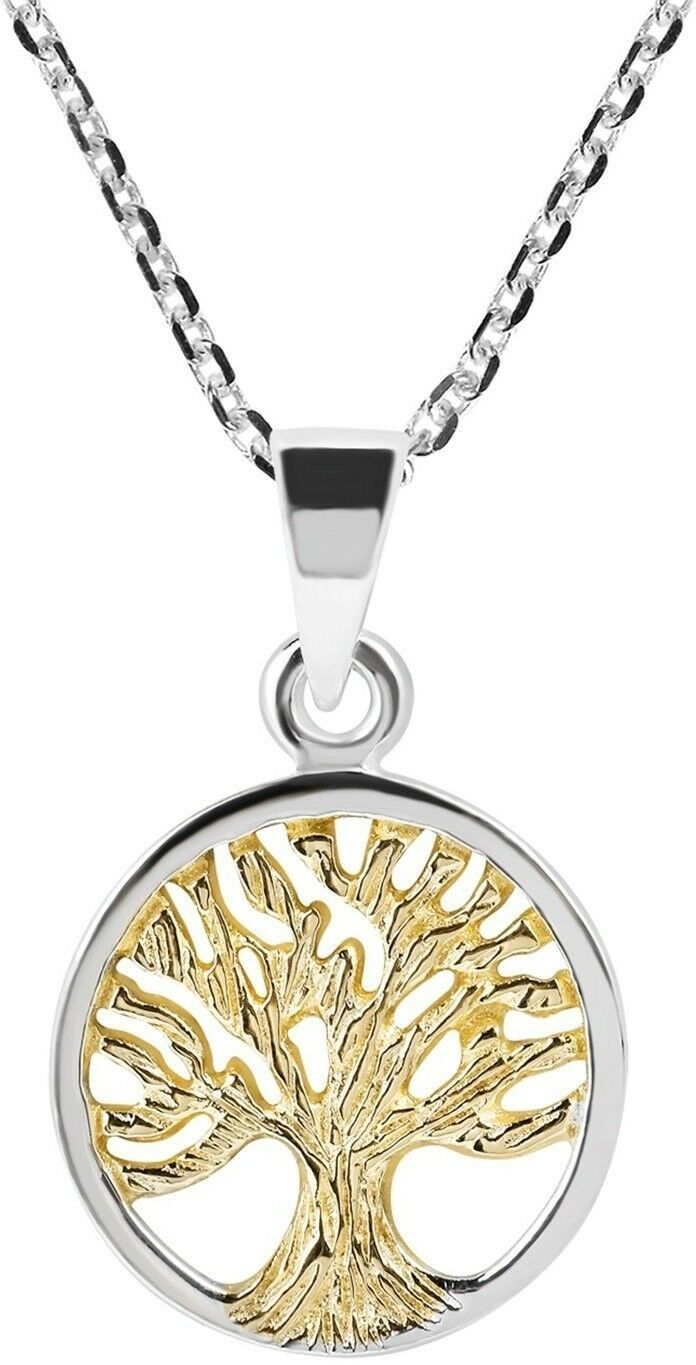 Primary image for Spirituality Tree Of Life Gold Plated Over Silver .925 Sterling Silver Necklace