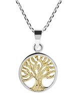 Spirituality Tree Of Life Gold Plated Over Silver .925 Sterling Silver N... - $84.64