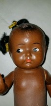 "Vintage/Antique African American Baby Girl Doll 9"" Hand Painted - $26.72"