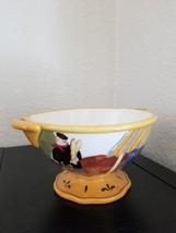 JENNIFER BRINLEY Cafe Girl  Footed Pedestal Bowl  CERTIFIED INTERNATIONA... - $24.75
