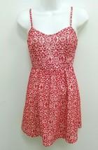 Charlotte Russe Womens XS Dress Red White Sweetheart Spaghetti Straps Sh... - $11.99