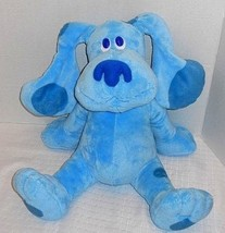 "Ty Beanie Buddies 2010 BLUES CLUES 14"" BLUE the Puppy Dog Plush Stuffed ... - $21.56"