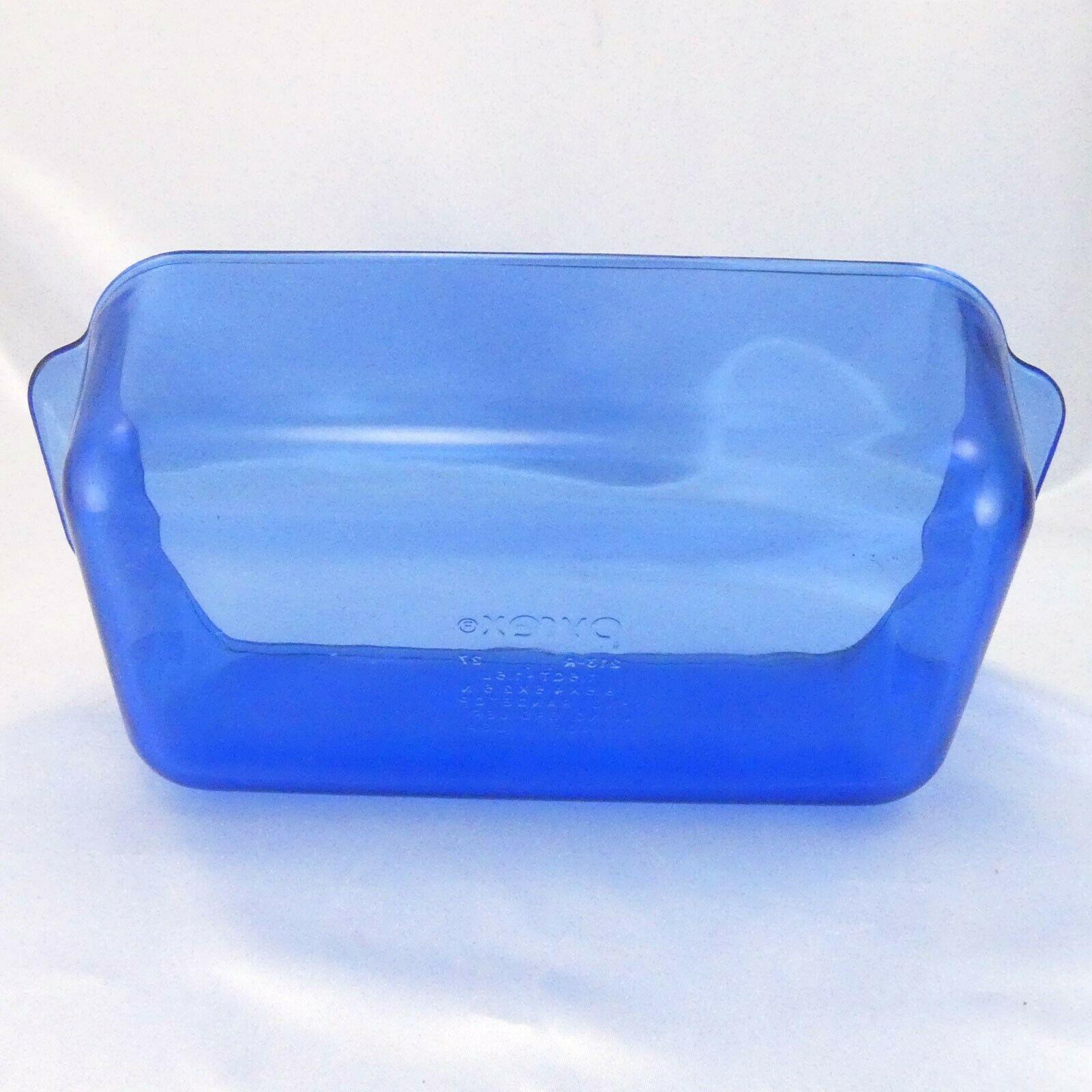 "Pyrex 213-R Cobalt Blue Loaf Pan 1.5qt Baking Dish 8.5""x4.5""x2.5"" image 5"