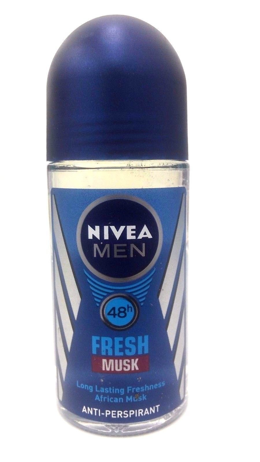 Nivea Men Fresh Musk Scent 48 Hr And 50 Similar Items Deodorant Invisible Black White Roll On Ml S L1600