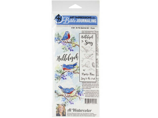 Art Impressions Bible Journaling On the Sparrow HL Rubber Cling Stamp Set #5170