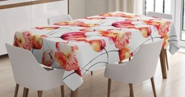 Poppy Flower Tablecloth Floral Tulip Spring Bloom Dining Table Linen Cov... - $29.39