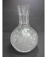 Strawberry diamond and fan Carafe ABP 6.75LB hand Cut Glass - $98.18