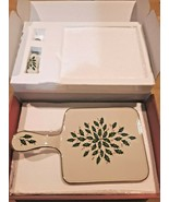 Vintage Lenox HOLIDAY CHEESEBOARD WITH SPREADER - With box - $44.50