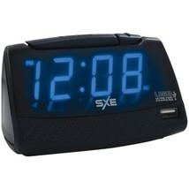 SXE SXE86034 Alarm Clock with USB Charging Port - $30.11