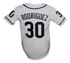 Rodriguez #30 The Sandlot Movie Button Down Baseball Jersey New White Any Size image 2