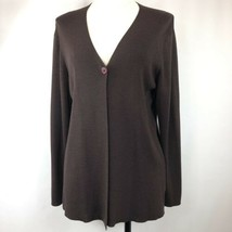 Talbot Women's One Button Cardigan Sweater Sz S  Dark Brown - $24.52