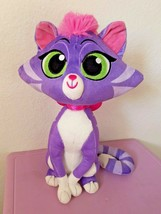 Disney Puppy Dog Pals Hissy Big Kitty Sister Cat Purple Plush Stuffed An... - $18.79