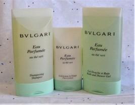 Bulgari Au The Vert Green Tea Shampoo, Bath and Shower Gel & Face Lotion Set - $20.98