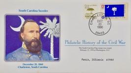 12/20/1990 - Philatelic History Civil War South Carolina Secedes 1860 - ... - $8.99