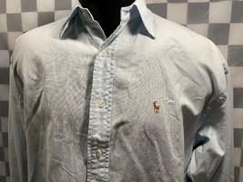 Ralph Lauren The Big Oxford Pulsante Luce Anteriore Blu Camicia Uomo Mis... - $14.02