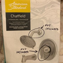 American Standard Chatfield Brushed Nickel Tub & Shower Faucet (FOR PART... - $49.50