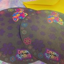⚡️SALE 2 Sheets HTF LISA FRANK mint BLOSSOM BEAR ROUND stationery Rare Beauty image 2