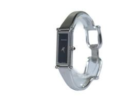 Auth GUCCI 1500L Black Dial Stainless Steel Quartz Ladies Watch GW3672L - $237.51 CAD