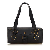 Pre-Loved Celine Black Others Leather Studded Shoulder Bag France - $246.84