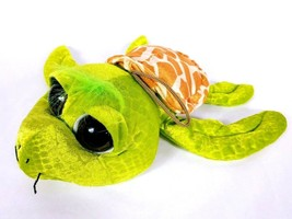 "Six Flags Texas Sea Turtle Big Eyes Plush Stuffed Animal 14"" - $19.80"