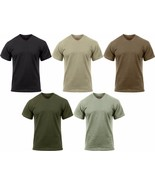 Solid Moisture Wicking Tactical Military Silky Polyester T-Shirt - $12.99+