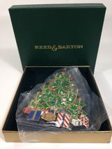 Reed & Barton Colors of Christmas Tree Ornament - 24k Gold Plated Xmas - $12.95