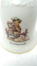 Goebel MJ Hummel Eventide Collectible Ceramic Bell with Wooden Handle - $17.71