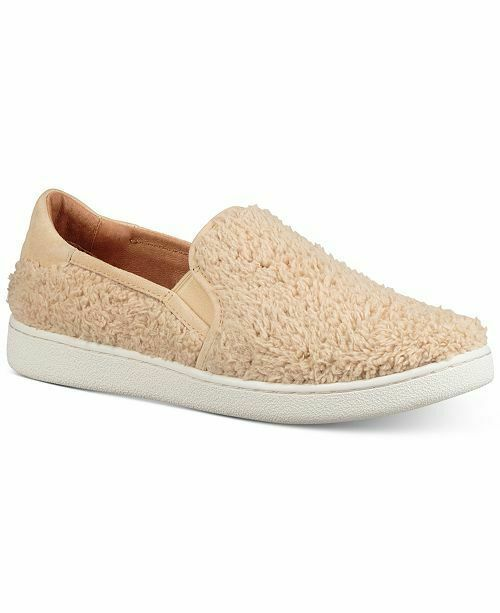 UGG RICCI FAUX FUR SLIP ON SNEAKERS SHOE NIB SIZE 8M