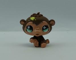 Littlest Pet Shop #663 Brown Baby Monkey Chimpanzee w/ Paint Spot & Blue... - $6.52