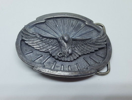 Vintage Siskiyou Flying American Bald Eagle 1988 Belt Buckle W-50 - $12.99