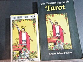 THE RIDER TAROT DECK AND THE PICTORIAL GUIDE BOOK COMPLETE MADE IN SWITZ... - $44.00