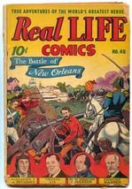 Real Life #40 1947-Nedor-Alex Schomburg-Battle of New Orleans-Bob Feller... - $24.83