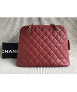 100% Authentic Chanel Vintage Red Quilted Caviar Classic Tote Bag GHW - $1,888.00