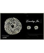 Eisenberg Ice Rhinestone Love Knot Pin and Earrings (#J1070) - $80.00