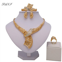 Fani 2018 Dubai Gold Colorful Jewelry Set Wholesale Nigerian Wedding Fas... - $23.58