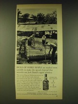 1964 Jack Daniel's Whiskey Ad - Ricks of hard maple are stacked most carefully - $14.99
