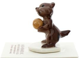 Hagen-Renaker Miniature Ceramic Figurine Chipmunk Holding Acorn on Base image 3