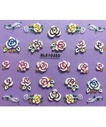 Nail Art 3D Decal Stickers Multicolored Roses - $5.92